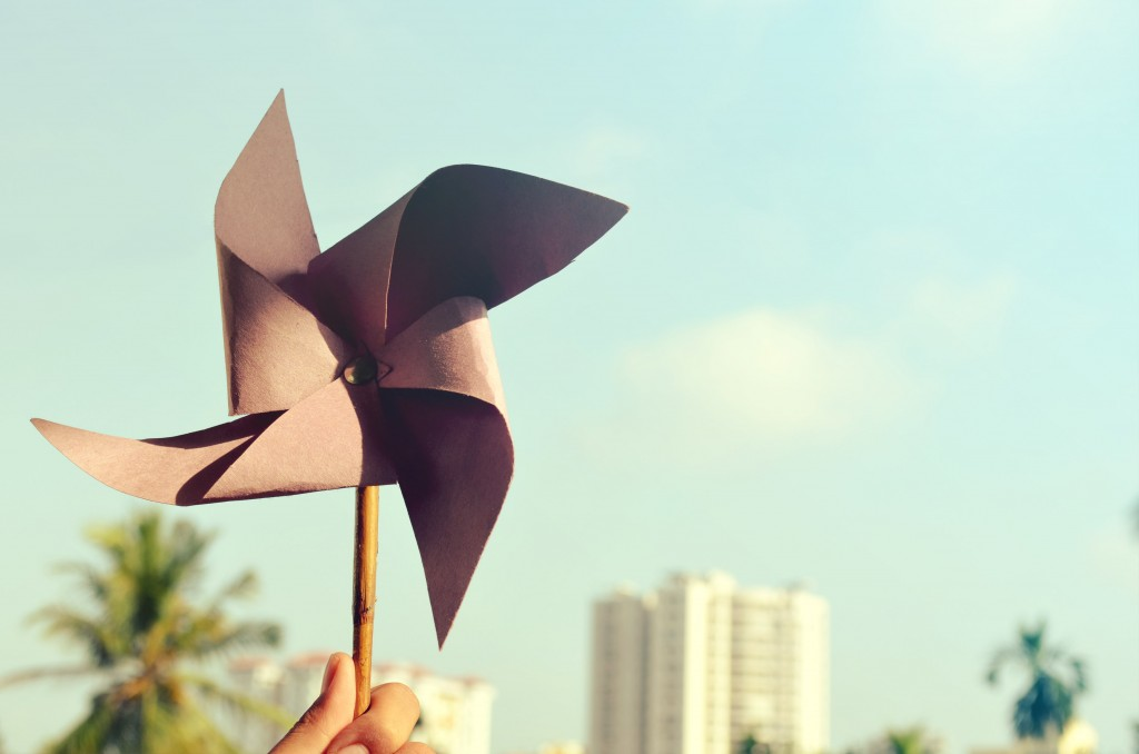 paper origami windmill